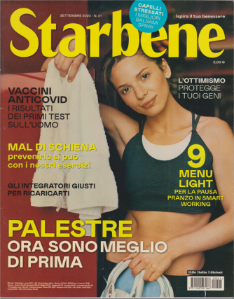 Starbene - n. 21 - settembre 2020 - mensile