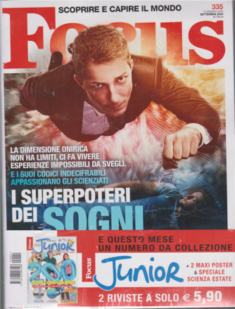 Focus  + Focus Junior - n. 335 - settembre 2020 - mensile - 2 riviste + 2 maxi poster & speciale scienza estate