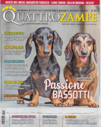Quattro Zampe - n. 154 - mensile - settembre 2020