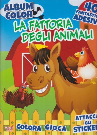 Toys2 Sticker Album color La fattoria degli animali - n. 37 - bimestrale - 20 agosto 2020 -