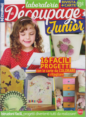 Laboratorio di Decoupage Junior - n. 2 - bimestrale - settembre - ottobre 2020 - rivista + carte