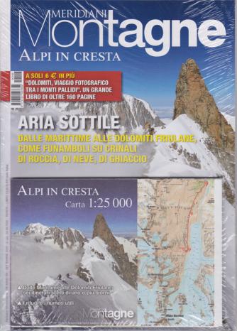 Meridiani Montagne - n. 106 - Alpi in cresta + Dolomiti - Viaggio fotografico tra i monti Pallidi - bimetrale - settembre 2020 - rivista + libro