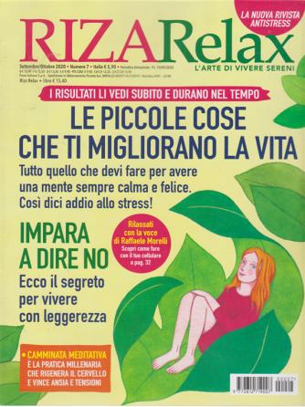Riza Relax - Le Piccole cose che ti migliorano la vita - n. 7 - settembre - ottobre 2020 - bimestrale