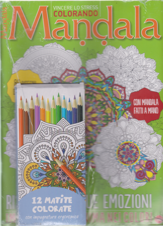 Color Relax Speciale Mandala - n. 5 - bimestrale - settembre - ottobre 2020 - + 12 matite colorate con impugnatura ergonomica