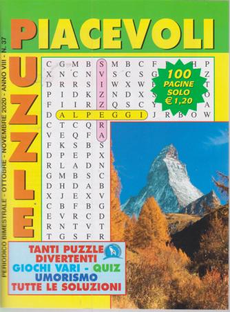 Piacevoli Puzzle - n. 37 - bimestrale - ottobre - novembre 2020 - 100 pagine