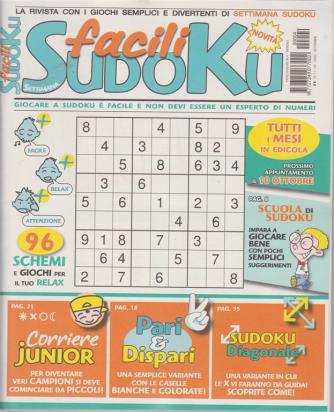 Settimana Sudoku facili  - n. 4 - mensile - settembre 2020