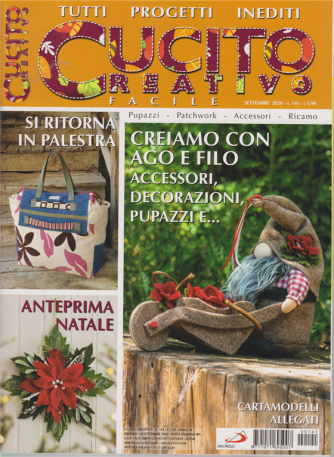 Cucito Creativo  facile - n. 141 - mensile - 10 settembre 2020 -
