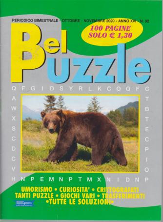 Bel Puzzle - n. 92 - bimestrale - ottobre - novembre 2020 - 100 pagine