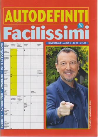 Autodefiniti Facilissimi - n. 33 - bimestrale - ottobre - novembre 2020 -