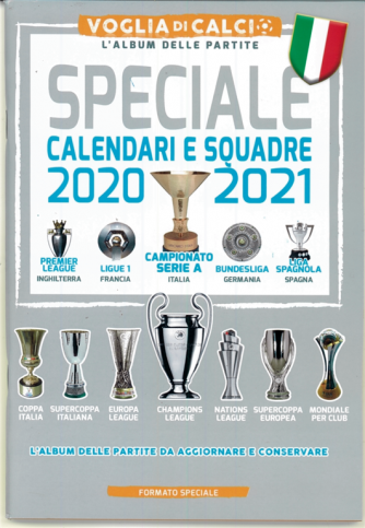 Voglia Di Calcio - speciale calendari e Squadre 2020-21 cm. 14x20,5