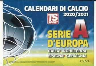Calendari di Calcio 2020-21 Serie A Europa... tascabile  cm. 10x7,5 - TS Sport