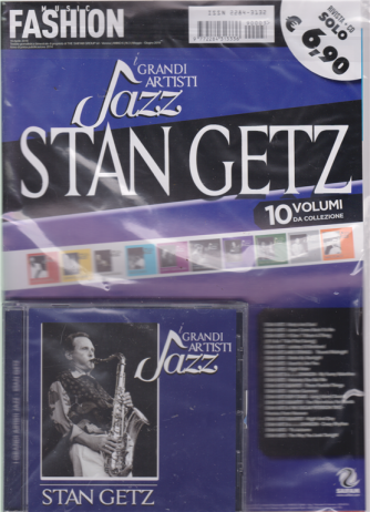 Music Fashion Var.33 - Cd Stan Getz - I Grandi artisti jazz - rivista + cd - n. 3 - maggio - giugno 2019 -
