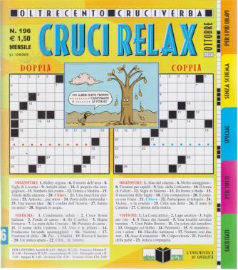 Cruci Relax - n. 196 - mensile - ottobre 2020 - oltre 100 cruciverba
