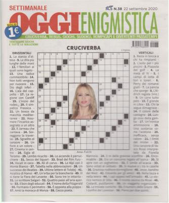 Settimanale Oggi Enigmistica - n. 38 - 22 settembre 2020 -