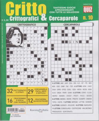 Critto - Crittografici & Cercaparole - n. 10 - 15/9/2020 - trimestrale