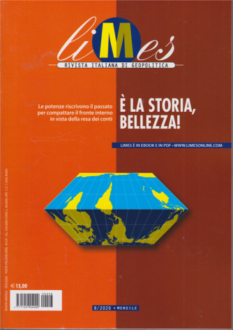 Limes - n. 8/2020 - E' la storia , bellezza! - mensile - 18/9/2020