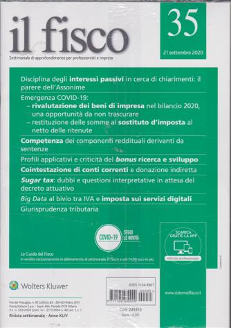Il Fisco - n. 35 - 21 settembre 2020 - settimanale - 2 riviste