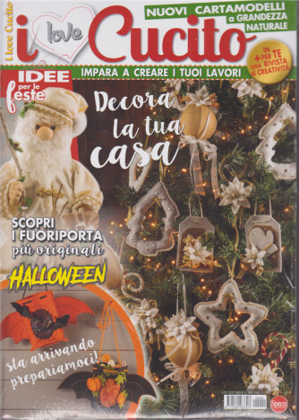 I Love Cucito - n. 9 - bimestrale - ottobre - novembre 2020 - 2 riviste