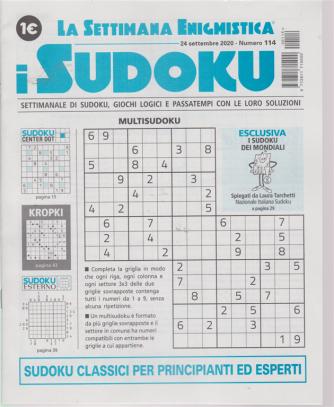 La settimana enigmistica - i sudoku - n. 114 - 24 settembre 2020 - settimanale