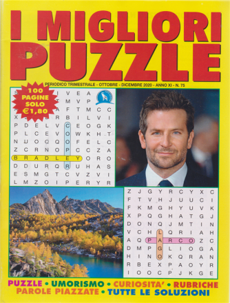 I migliori puzzle - n. 75 - trimestrale - ottobre - dicembre 2020 100 pagine