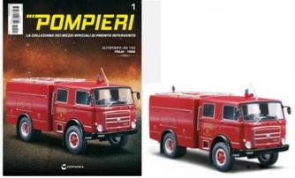 Pompieri Dal Mondo n.1 - Autopompa OM 150 scala 1:43 - Italia 1968