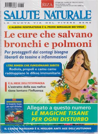 Salute Naturale  - n. 258 -Le cure che salvano bronchi e polmoni -  ottobre 2020 - mensile + Le magiche tisane per ogni disturbo - 2 riviste