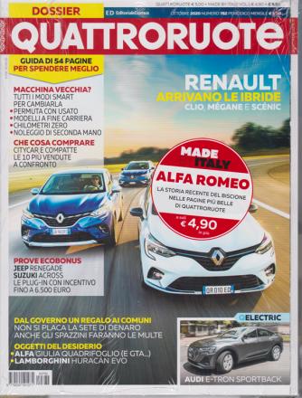Quattroruote + Made by Italy Alfa Romeo - n. 782 - mensile - ottobre 2020 - 2 riviste
