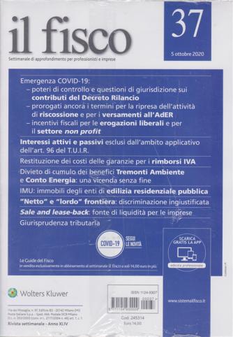 Il Fisco - n. 37 - 5 ottobre 2020 - settimanale
