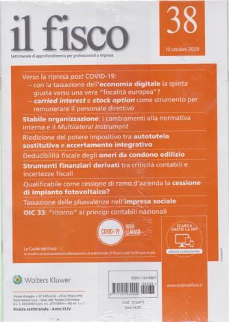 Il Fisco - n. 38 - settimanale - 12 ottobre 2020 - 2 riviste
