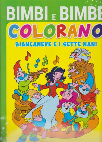 Bimbi e  Bimbe colorano Biancaneve e i sette nani - Il prescolare - n. 1 - bimestrale - ottobre - novembre 2020 -