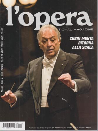 L'opera international magazine - n. 52 - mensile - 10/10/2020 -