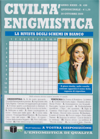 Civilta' Enigmistica -n. 430 - quindicinale - 20 ottobre 2020