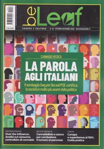 Be Leaf - Cannabis Medica - La parola agli italiani - n. 18 - ottobre - dicembre 2020 -