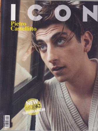 Icon - n. 62 -Pietro Castellitto - New Generation -  ottobre 2020 - mensile -