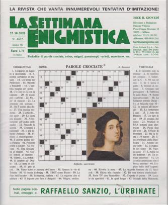 La Settimana Enigmistica - n. 4622 - settimanale - 22/10/2020