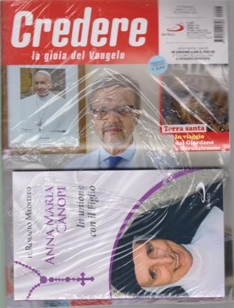 Credere - n. 43 - settimanale - 25 ottobre 2020 + il libro Il rosario meditato  - Anna Maria Canopi - In unione con il Figlio - rivista + libro