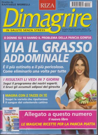Dimagrire + Le magiche ricette per la pancia piatta - n. 223 - mensile- novembre 2020 - 2 riviste