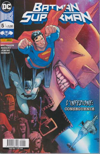 Batman/Superman - n. 5 -L'infezione: conseguenze -  mensile - 22 ottobre 2020 -