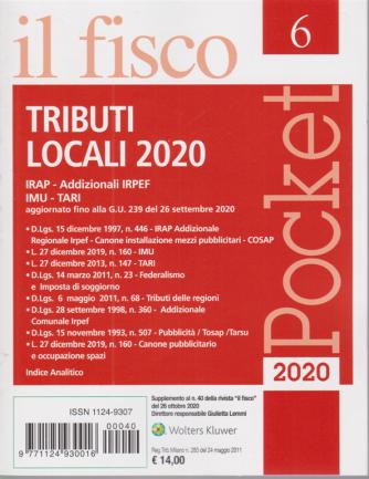 Il fisco pocket - n. 6 - Tributi locali 2020 - 28 ottobre 2020 -