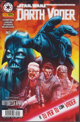 Panini Dark - Darth Vader n. 63 -A tu per tu con Vader -  mensile - 29 ottobre 2020 -