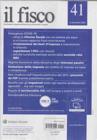 Il Fisco - + I reati tributari - n. 41 - 2 novembre 2020 - settimanale - 2 riviste