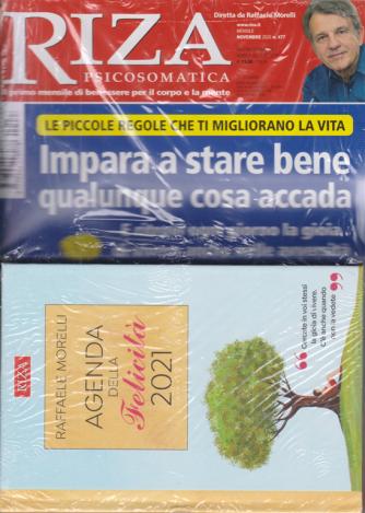 Riza Psicosomatica + Agenda della felicità 2021 - di Raffaele Morelli con copertina rigida -  n. 477 - novembre 2020 - mensile