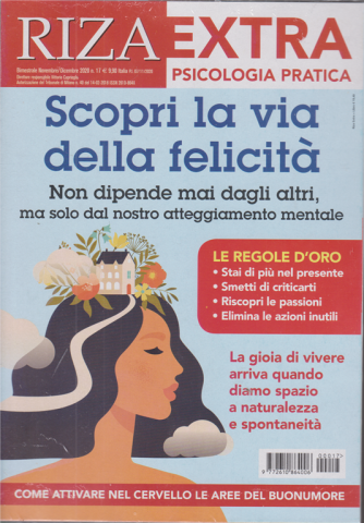 Riza Extra - Scopri la via della felicità - n. 17 - bimestrale - novembre - dicembre 2020