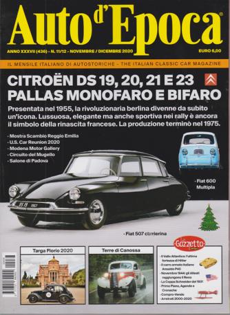 Auto D'epoca - n. 436 - novembre - dicembre 2020 - mensile