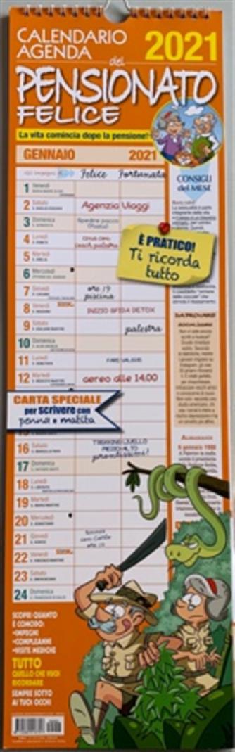Calendario 2021 Pensionato felice - cm. 15 x 50
