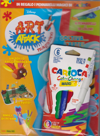 Art Attack - + 6 Pennarelli magici Carioca color change - n. 27 - mensile - 25/ aprile 2019 -