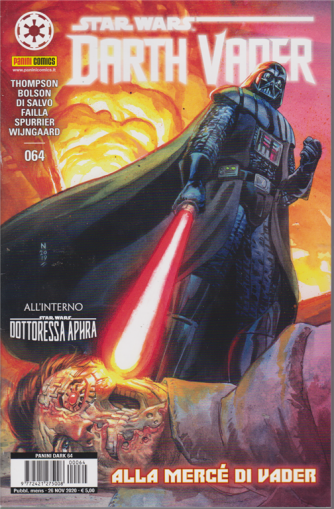 Panini Dark -Star wars -  Darth Vader n. 64 -Alla mercè di Vader -  mensile - 26 novembre 2020