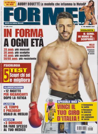 For Men Magazine - n. 195 - maggio 2019 - mensile