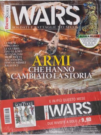 Focus Storia Wars + Focus storia wars soldati - n. 3 - 4 maggio 2019 - trimestrale - 2 riviste