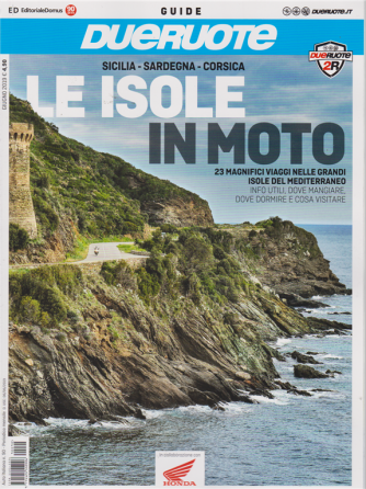 Auto Italiana - Guide Dueruote - Sicilia - Sardegna - Corsica - Le isole in moto - n. 90 - mensile - 6/6/2019